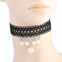 Spitze Halsreif, mit Kristall & Kunststoff Perlen & Zinklegierung, mit Verlängerungskettchen von 2Inch, silberfarben plattiert, für Frau & facettierte & mit Strass, frei von Nickel, Blei & Kadmium, verkauft per ca. 12 ZollInch Strang