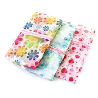 Nylon Wäschesack, Rechteck, gemischtes Muster & verschiedene Größen vorhanden, 5PCs/Menge, verkauft von Menge