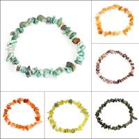 Edelstein Armbänder, Klumpen, verschiedenen Materialien für die Wahl, 5x3mm-15x7mm, verkauft per ca. 7 ZollInch Strang