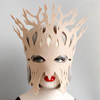 Filz Maske, mit Satinband, Geweihe, unisex & Halloween Schmuck, Kaffeefarbe, frei von Nickel, Blei & Kadmium, 295mm, verkauft von PC
