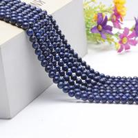 Lapislazuli Perlen, natürlicher Lapislazuli, rund, natürlich, verschiedene Größen vorhanden, Länge:ca. 15.5 ZollInch, ca. 2SträngeStrang/Tasche, verkauft von Tasche