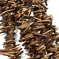 Natürlicher Quarz Perle, antike Goldfarbe plattiert, facettierte, 14-32x5-7x5-8mm, Bohrung:ca. 1mm, ca. 80PCs/Strang, verkauft per ca. 16 ZollInch Strang