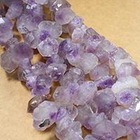 Natürliche gefärbten Quarz Perlen, Natürlicher Quarz, facettierte, violett, 22-33x12-18x12-22mm, Bohrung:ca. 1.5mm, ca. 32PCs/Strang, verkauft per ca. 16 ZollInch Strang