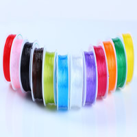 Kristall Faden, mit Kunststoffspule, elastisch & verschiedene Größen vorhanden, keine, 100PCs/Menge, ca. 6m/PC, verkauft von Menge