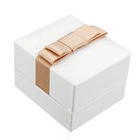 PU Leder Einzelring Kasten, mit Satinband & Baumwollsamt, Rechteck, 47x53x42mm, 30PCs/Tasche, verkauft von Tasche