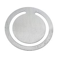 Zinklegierung Lesezeichen, flache Runde, Platinfarbe platiniert, frei von Nickel, Blei & Kadmium, 32x32x0.10mm, 10PCs/Menge, verkauft von Menge