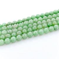 Aventurin Perlen, Grüner Aventurin, rund, natürlich, verschiedene Größen vorhanden, Bohrung:ca. 1mm, verkauft per ca. 15 ZollInch Strang