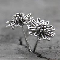 Thailand Ohrstecker, Blume, für Frau, 8mm, verkauft von Paar
