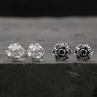 925 Sterling Silber Ohrstecker, Blume, verschiedenen Materialien für die Wahl & für Frau, 7mm, verkauft von Paar