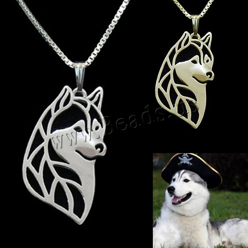 Buy Unisex Necklace Zinc Alloy iron chain Dog plated box chain colors choice lead & cadmium free 45cm Sold Per Approx 17.5 Inch Strand