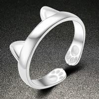 Messing Manschette Fingerring, versilbert, mit 925 logo & für Frau, frei von Nickel, Blei & Kadmium, 22x6mm, Größe:6-10, verkauft von PC