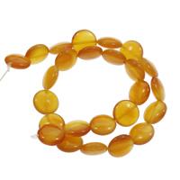 Roter Achat Perle, flache Runde, 16x7mm, Bohrung:ca. 1.5mm, ca. 25PCs/Strang, verkauft per ca. 15 ZollInch Strang