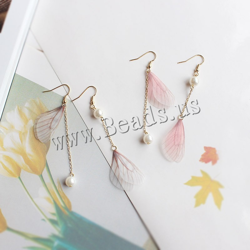 Buy Asymmetric Earrings Zinc Alloy Resin & Plastic Pearl brass earring hook gold color plated woman colors choice nickel lead & cadmium free 16x87mm 8mm 33mm 8x80mm Sold Pair