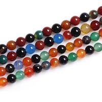 Regenbogen Achat Perle, rund, verschiedene Größen vorhanden, Bohrung:ca. 1mm, verkauft per ca. 15 ZollInch Strang