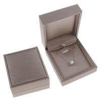 Karton Halskettenkasten, mit Schwamm, Rechteck, grau, 74x85x39mm, verkauft von PC