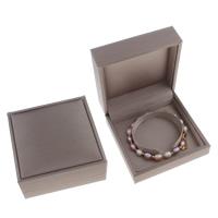 Karton Armbandkasten, Rechteck, grau, 90x42mm, verkauft von PC