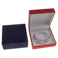 Baumwollsamt Armbandkasten, mit Karton, Quadrat, keine, 100x50mm, verkauft von PC