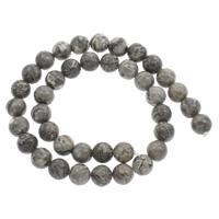 Picasso Jaspis Perle, rund, verschiedene Größen vorhanden, Bohrung:ca. 1mm, verkauft per ca. 15 ZollInch Strang