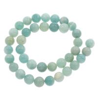 Amazonit Perle, rund, Bohrung:ca. 1mm, verkauft per ca. 15 ZollInch Strang