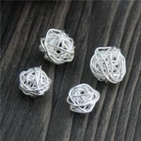 925 Sterlingsilber European Perlen, 925 Sterling Silber, verschiedene Größen vorhanden, Bohrung:ca. 2mm, 10PCs/Menge, verkauft von Menge