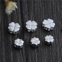 925 Sterling Silber Perlen, vierblättriges Kleeblatt, verschiedene Größen vorhanden, 20PCs/Menge, verkauft von Menge