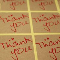 Abdichten von Aufkleber, Kraftpapier, Quadrat, Wort-Danke, klebrig & mit Brief Muster, 40x40mm, 100SetsSatz/Tasche, 9PCs/setzen, verkauft von Tasche