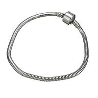 Edelstahl Europa Armband-Schnur, unterschiedliche Länge der Wahl & Schlangekette, originale Farbe, 3mm, 20x10x10mm, verkauft von Strang