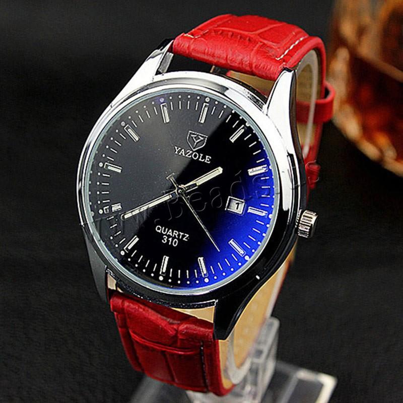 Buy Yazole® Unisex Jewelry Watch Cowhide Glass & Zinc Alloy plated adjustable & waterproof & luminated & enamel nickel lead & cadmium free Approx 9 Inch Sold PC