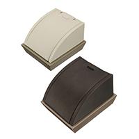 PU Leder Kettenständer, mit Holz, keine, 76.50x86x58mm, 5PCs/Tasche, verkauft von Tasche