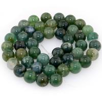 Natürliche Moos Achat Perlen, rund, verschiedene Größen vorhanden, verkauft per ca. 15.5 ZollInch Strang