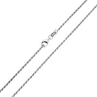925 Sterling Silber Halskette Kette, unterschiedliche Länge der Wahl & Seil-Kette, 1.75mm, verkauft von Strang