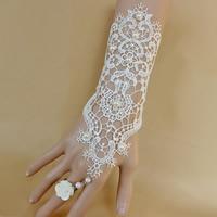 Gothic -Armband-Ring, Spitze, mit ABS-Kunststoff-Perlen & Harz & Zinklegierung, mit Verlängerungskettchen von 7cm, Platinfarbe platiniert, für Frau, 150mm, Größe:6-10, verkauft per ca. 5.5 ZollInch Strang