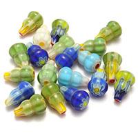 Chevron Glasperlen, Kalebasse, gemischte Farben, 10x16.50x10mm, Bohrung:ca. 0.5mm, 3Taschen/Menge, 20PCs/Tasche, verkauft von Menge