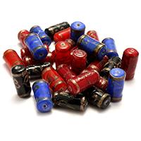 Goldsand Lampwork Perlen, Zylinder, gemischte Farben, 20-22x9-10x9-10mm, Bohrung:ca. 2mm, 2Taschen/Menge, 30PCs/Tasche, verkauft von Menge