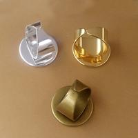 Messing Ringschiene, flache Runde, plattiert, olika innerdiameter, för val, keine, frei von Nickel, Blei & Kadmium, 16-25mm, Größe:6-9, 20PCs/Tasche, verkauft von Tasche