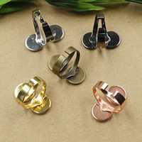 Messing Ringschiene, flache Runde, plattiert, olika innerdiameter, för val, keine, frei von Nickel, Blei & Kadmium, 10-12mm, Größe:6-9, 10PCs/Tasche, verkauft von Tasche