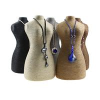 Hanfgarn Halskette Ständer, Leinen, mit Karton, keine, frei von Nickel, Blei & Kadmium, 295x143x100mm, 5PCs/Menge, verkauft von Menge