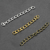 Eisen Verlängerungskettchen, plattiert, verschiedene Größen vorhanden, keine, frei von Blei & Kadmium, 1000PCs/Tasche, verkauft von Tasche