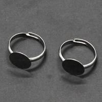 Messing einstellbare Fingerringe, Platinfarbe platiniert, frei von Nickel, Blei & Kadmium, 3x17mm, Größe:6-10, 50PCs/Tasche, verkauft von Tasche