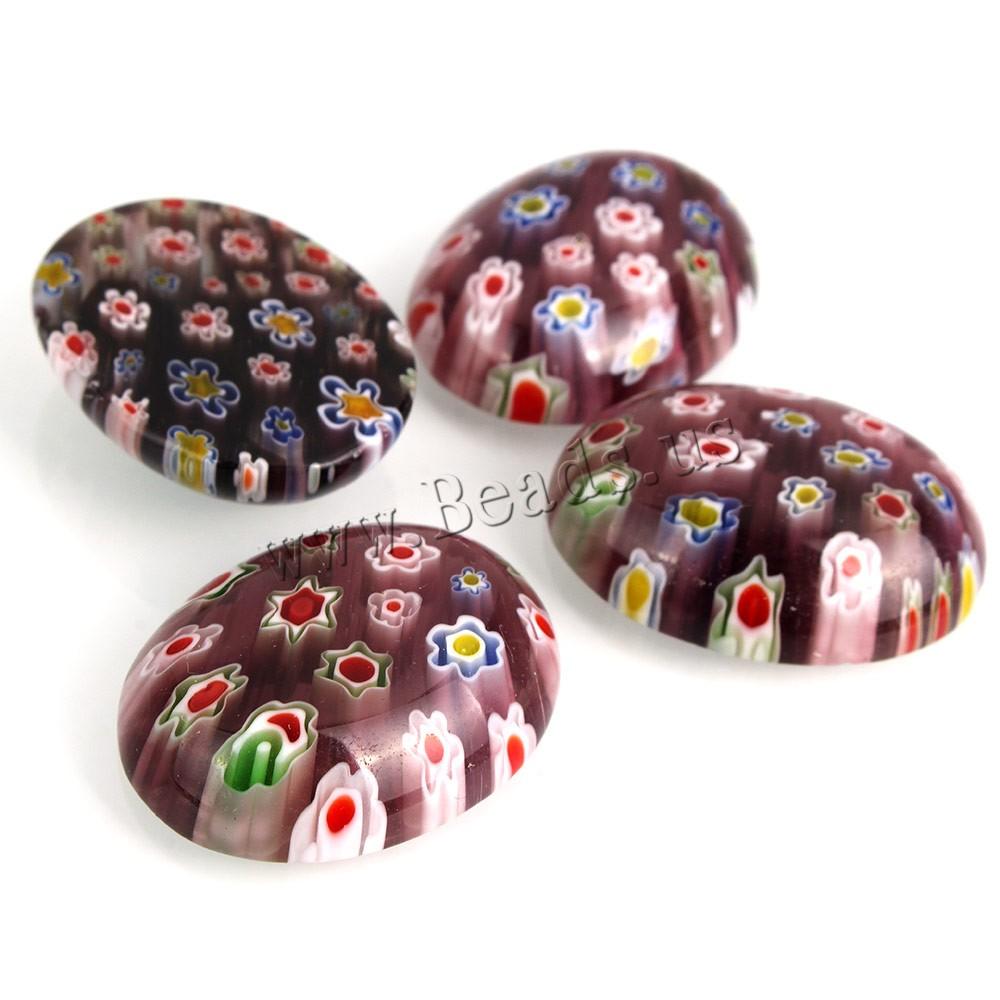 Buy Millefiori Slice Lampwork Beads Flat Oval millefiori slice & hole mixed colors 22x29x8mm 2Bags/Lot 30PCs/Bag Sold Lot