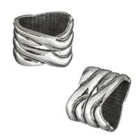 Zinklegierung Armbänder Zubehöre, Platinfarbe platiniert, Schwärzen, frei von Nickel, Blei & Kadmium, 11x13x9mm, Bohrung:ca. 10x6mm, 100PCs/Menge, verkauft von Menge