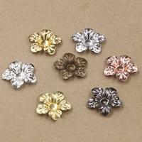 Messing Perlenkappe, Blume, plattiert, keine, frei von Nickel, Blei & Kadmium, 20mm, 100PCs/Tasche, verkauft von Tasche