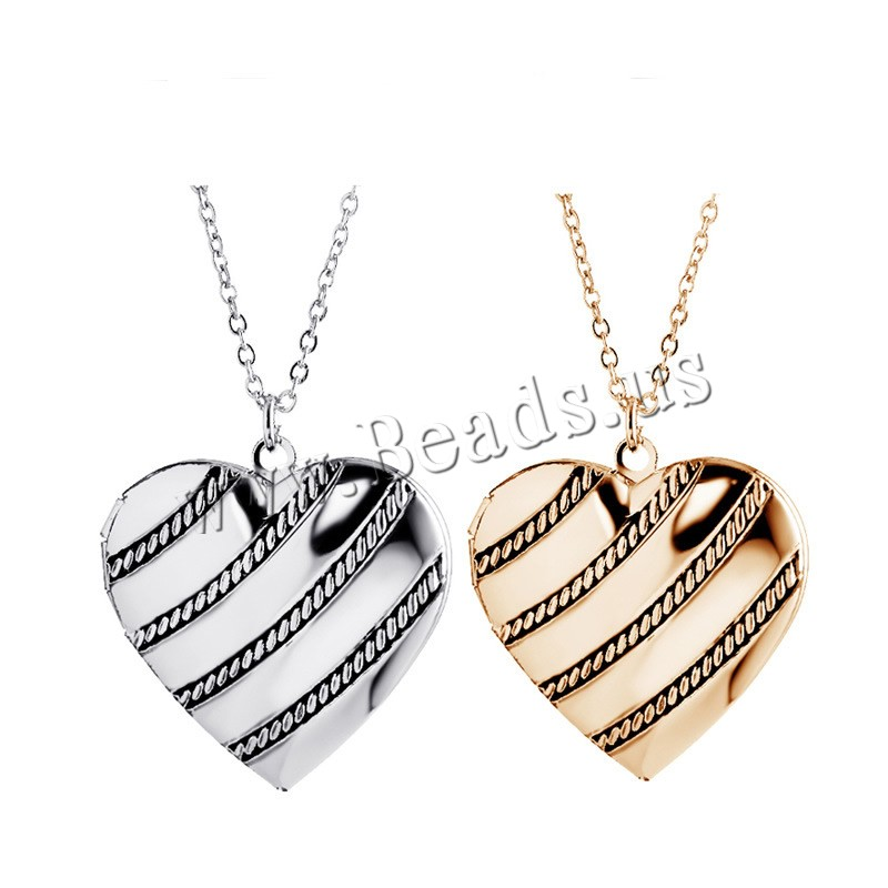 Buy Zinc Alloy Jewelry Necklace 1.96 lnch extender chain Heart plated oval chain & woman & enamel & blacken colors choice nickel lead & cadmium free 30x30mm Sold Per Approx 17.7 Inch Strand