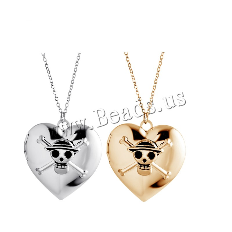 Buy Zinc Alloy Jewelry Necklace 1.96 lnch extender chain Heart plated oval chain & woman & enamel & blacken colors choice nickel lead & cadmium free 34x34mm Sold Per Approx 17.7 Inch Strand