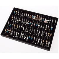 Baumwollsamt Ohrringständer, Karton, mit Baumwollsamt, frei von Nickel, Blei & Kadmium, 350x240x30mm, verkauft von PC