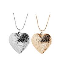 Schwimmende Medaillon Halskette, Zinklegierung, mit Verlängerungskettchen von 1.96 lnch, Herz, plattiert, Kugelkette & für Frau, keine, frei von Nickel, Blei & Kadmium, 39x30mm, verkauft per ca. 17.7 ZollInch Strang