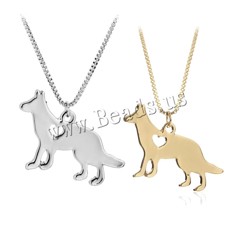 Buy Zinc Alloy Jewelry Necklace 1.9lnch extender chain Dog plated box chain & woman colors choice nickel lead & cadmium free 38x24mm Sold Per Approx 17.7 Inch Strand