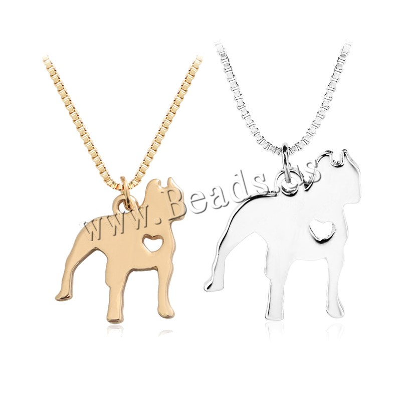 Buy Zinc Alloy Jewelry Necklace 1.9lnch extender chain Dog plated box chain & woman colors choice nickel lead & cadmium free 22x26mm Sold Per Approx 17.7 Inch Strand
