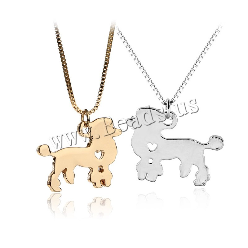 Buy Zinc Alloy Jewelry Necklace 1.9lnch extender chain Dog plated box chain & woman colors choice nickel lead & cadmium free 30x24mm Sold Per Approx 17.7 Inch Strand