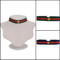 Mode-Halskette, Nylon, mit Zinklegierung, mit Verlängerungskettchen von 6cm, Biene, goldfarben plattiert, keine, verkauft per ca. 12.5 ZollInch Strang